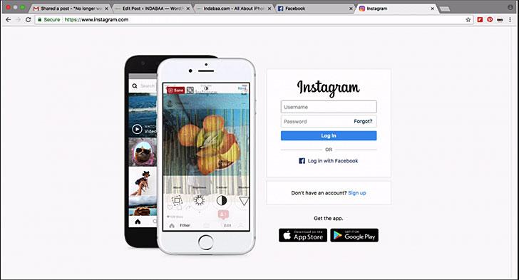 Chrome Üzerinden Instagram'a Giriş Yapmak