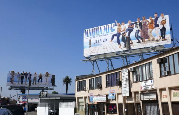 Mamma Mia Here We Go Again movie billboards