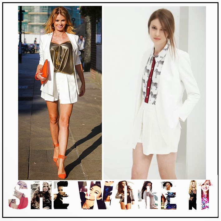 Blazer, Bright, Chloe Sims, Co-ords, High Waisted, Jacket, Lavish Alice, Pleat Detail, Pocket Detail, Pockets, Short Suit, Shorts, Skorts, Tailored, The Only Way Is Essex, TOWIE, White,
