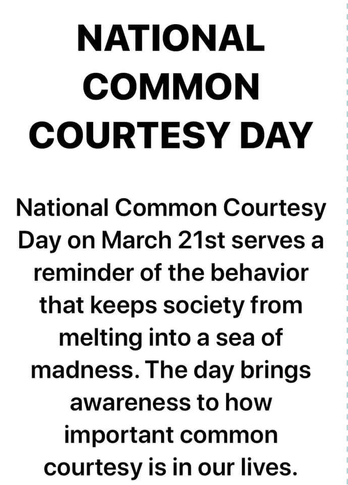 National Common Courtesy Day Wishes pics free download