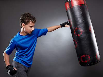 Instead of hurting people, use punching bag-Anger Management for Kids: The Caregiver's Responsibility
