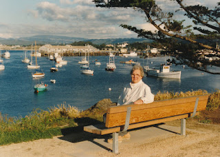 Mom in Monterey, 1989