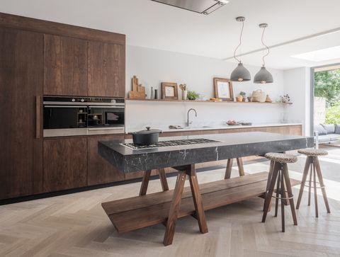 تصميم عصري لمطبخ من الخشب