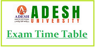 Adesh University Exam Date Sheet 2020