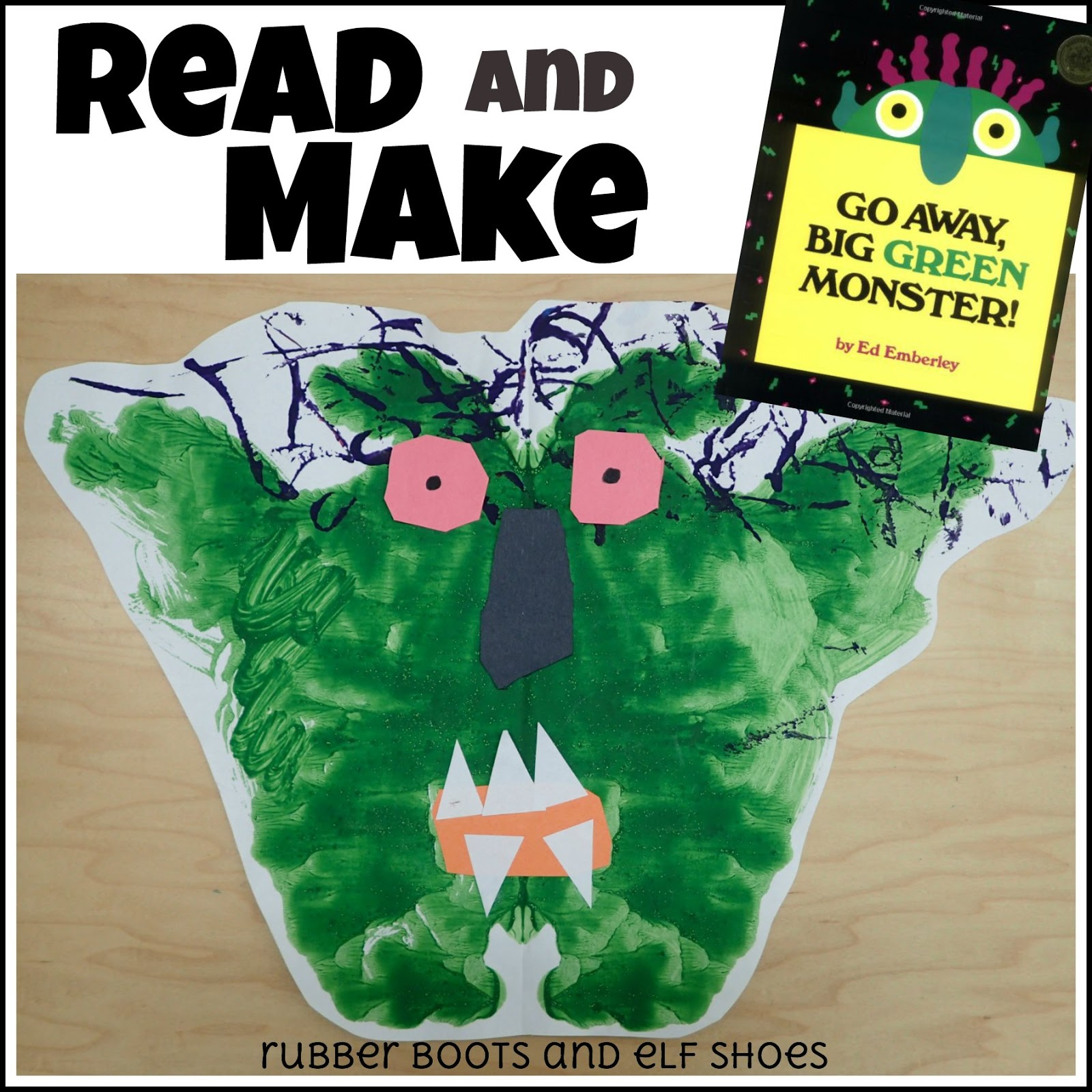 image regarding Go Away Big Green Monster Printable Book named Shift Absent Significant Environmentally friendly Monster: go through and generate - rubber boots and