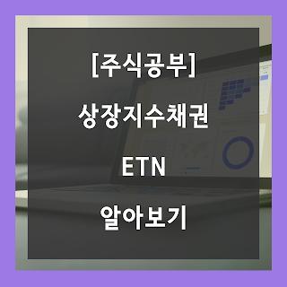 [주식공부] 다양한 포트폴리오에 투자할 수 있는 ETN에 대해 알아봅시다.