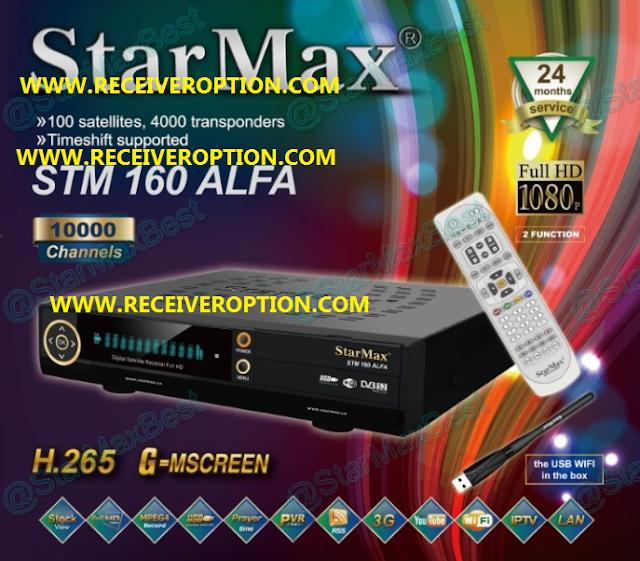 STARMAX STM 160 ALFA HD RECEIVER POWERVU KEY NEW SOFTWARE