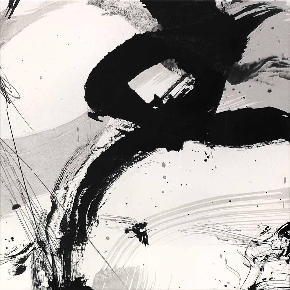 Encre de Chine et lavis sur papier de riz marouflé sur toile © Annik Reymond