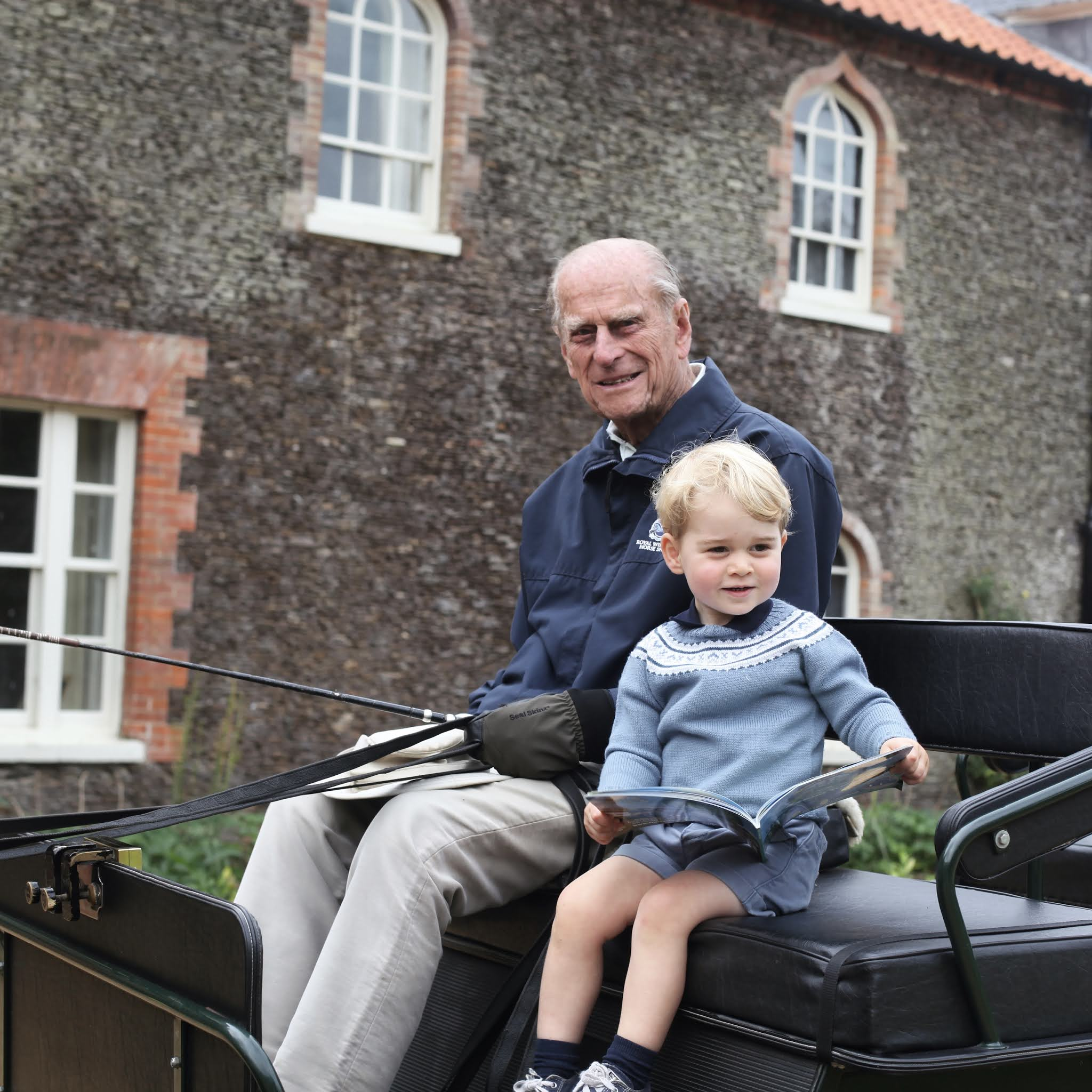 The Duke and Duchess of Cambridge released a picture of Prince George with Prince Philip