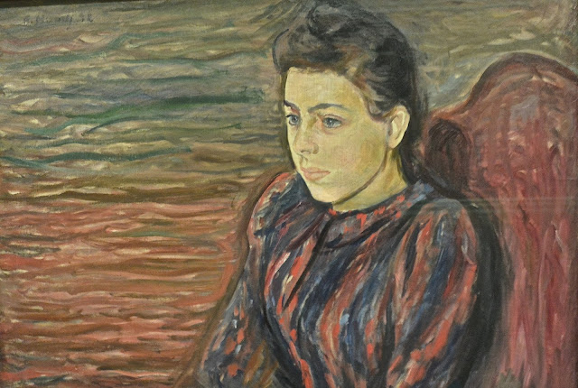 Norvège Bergen musée des beaux-arts Kode 3  Edvard Munch Jeune femme assise 1892 (musée de Bergen)