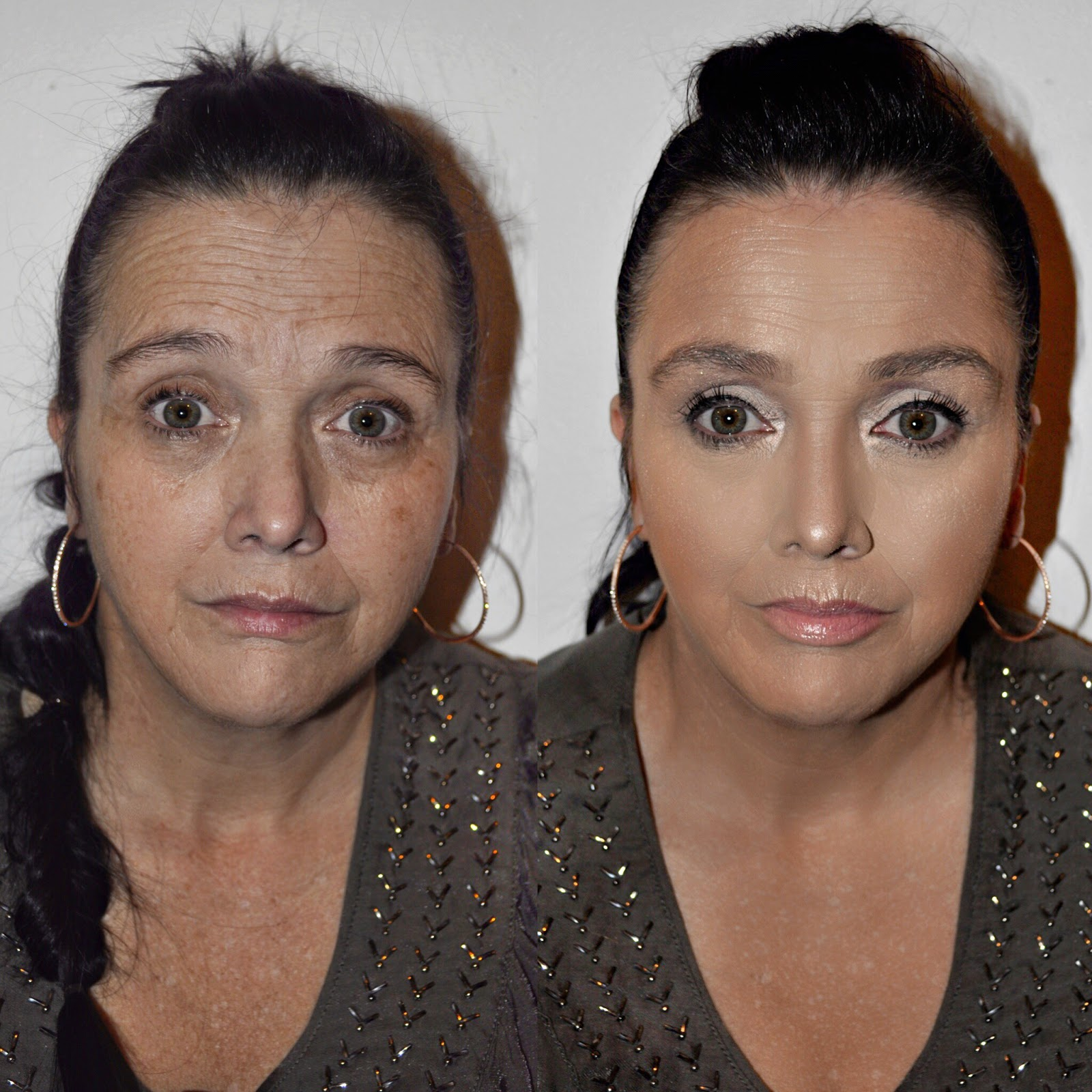 Makeup application for mature skin