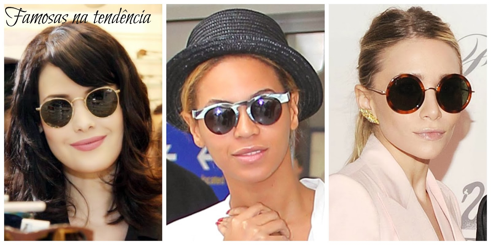 Radar Fashion  Óculos Redondo – Retrô Chic 3fb606c2ae