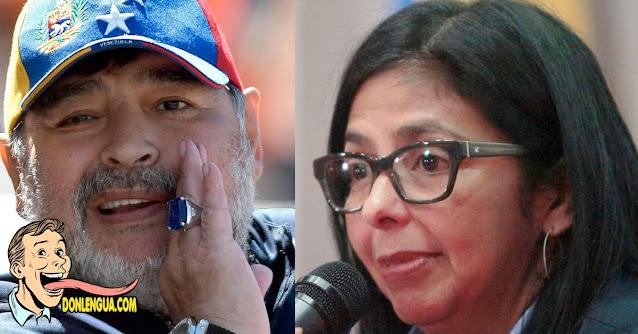 Delcy la Fea llora porque Maradona murió 4 años exactos después de Fidel