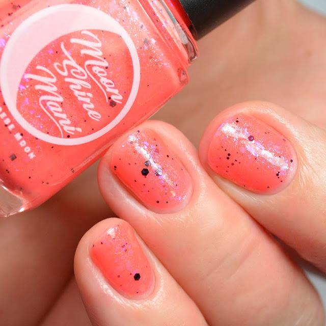neon red nail polish