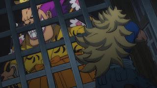 ワンピースアニメ 987話ワノ国編   キッド海賊団 キラー 人斬りの釜ぞう   ONE PIECE KID Piarates Killer