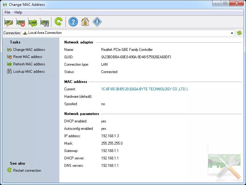 تحميل برنامج Change MAC Address 3.9.0 Build 163 لتغيير عنوان MAC لنظام Windows