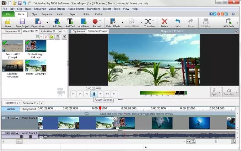 برنامج VideoPad