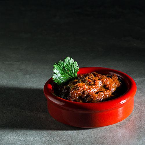 Pasilla Negro Chile and Tomato Sauce