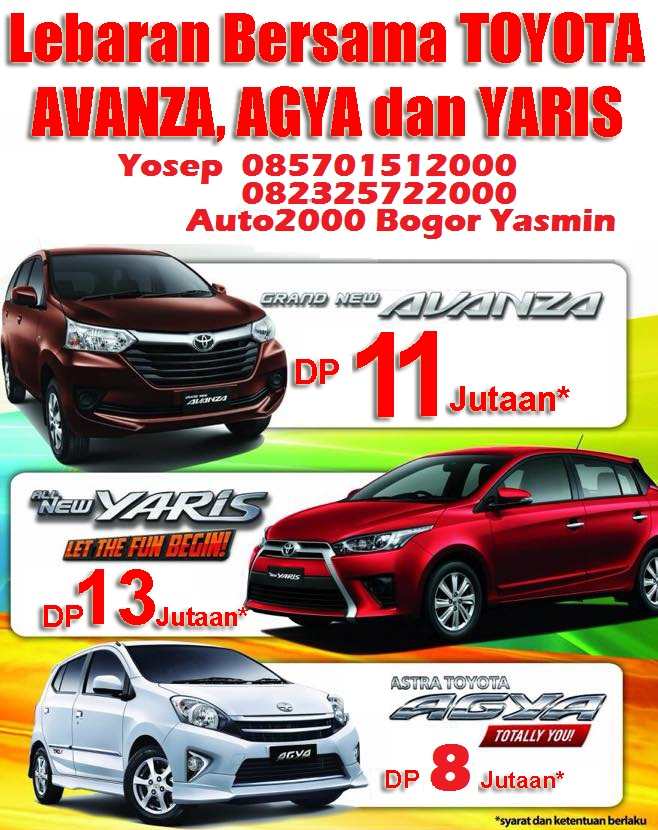 toyota bogor auto2000 yasmin promo toyota avanza agya dan yaris bulan juni 2016 khusus. Black Bedroom Furniture Sets. Home Design Ideas