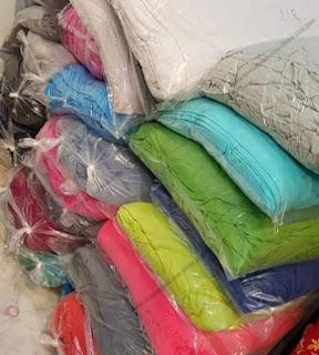 Lô khoảng 600kg vải cotton 2 chiều tồn kho cho xưởng may quần áo trẻ em