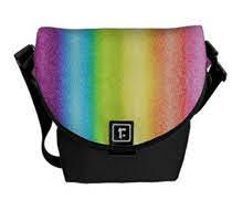 """Rainbow Ices"" Messenger Bag digital art rainbow stripes"