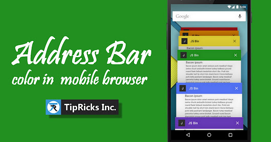 How to Change Address Bar Color in Mobile Browser to Match Your Blogger Blog