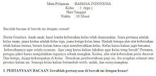 Soal-UKK-UAS-Bahasa-Indonesia-Kelas-3-SD-Semester-2