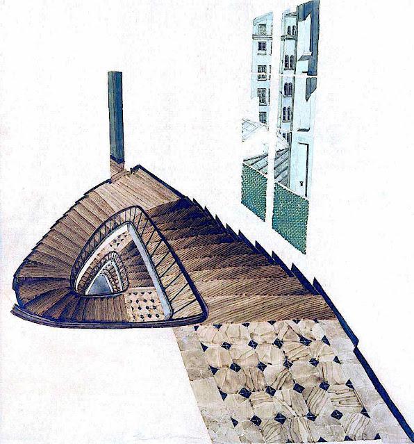 Sam Szafran art, wierd stairs
