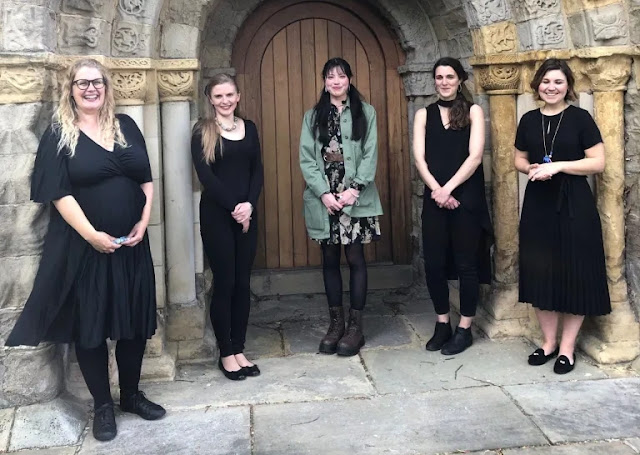 Young Composers Award winner Delyth Field (centre) with Palisander at the National Centre for Early Music, York