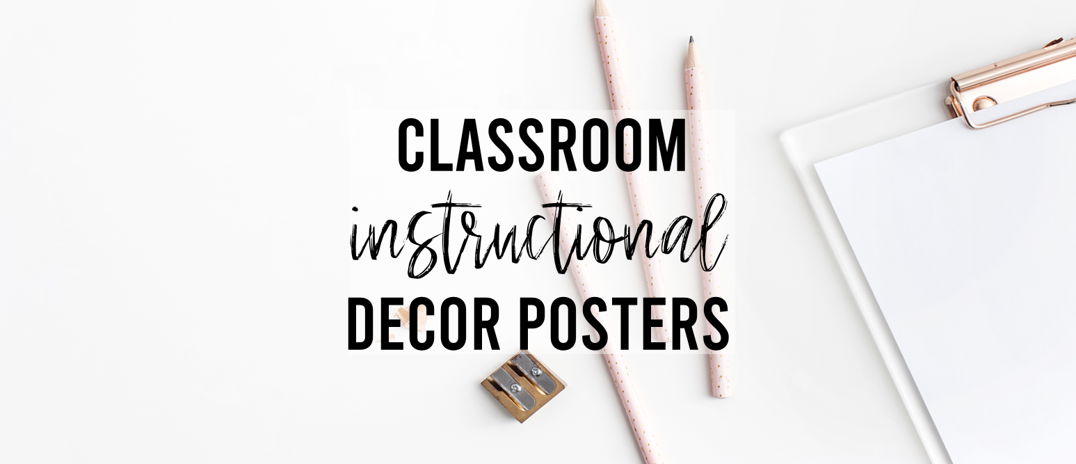 Classroom Posters for primary classrooms Kindergarten and First Grade