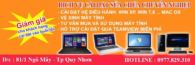 Sửa chữa máy tính tận nhà tại Quy Nhơn - 0935 294 856