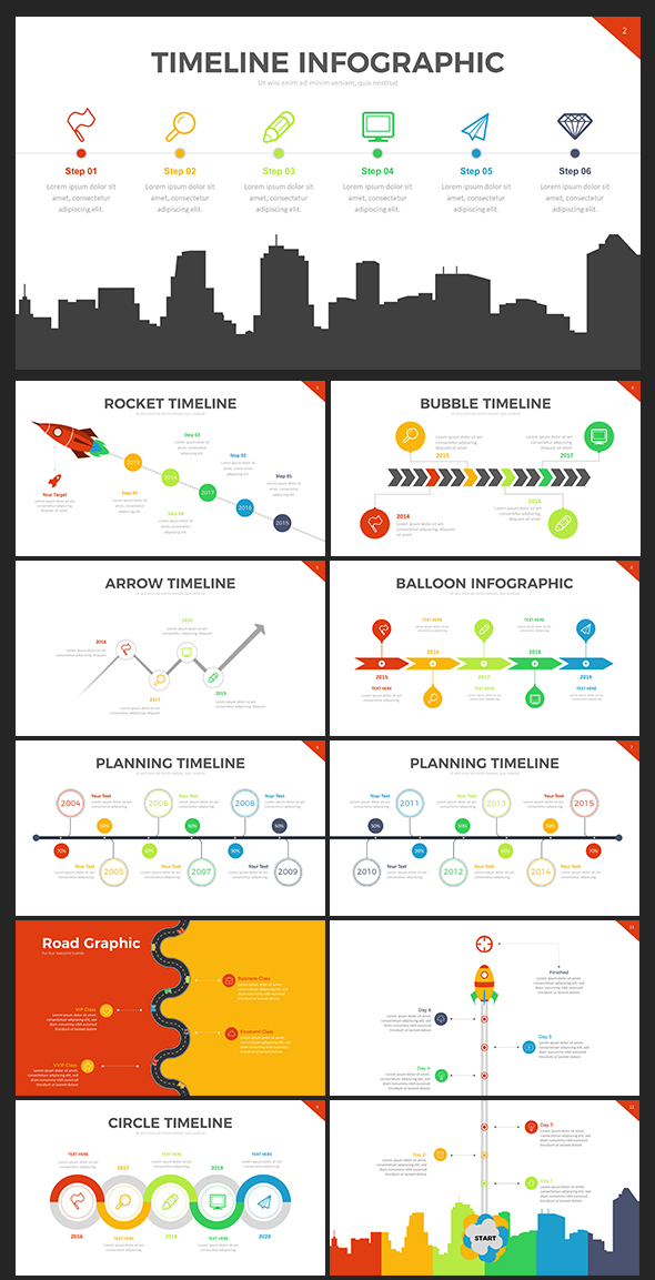 Project Timeline Powerpoint Template By Rrgraph | Graphicriver