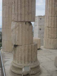 Parthenon Column Athens Greece