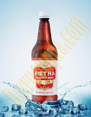 Bia chai Việt Hà 1L