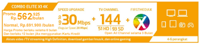 Paket First Media Combo Elite X1 4K HD (Wifi)