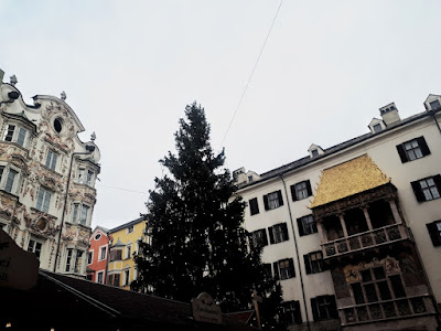 Innsbruck old town Christmas market and golden roof