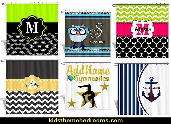 Monogram Shower Curtains - personalized shower curtains