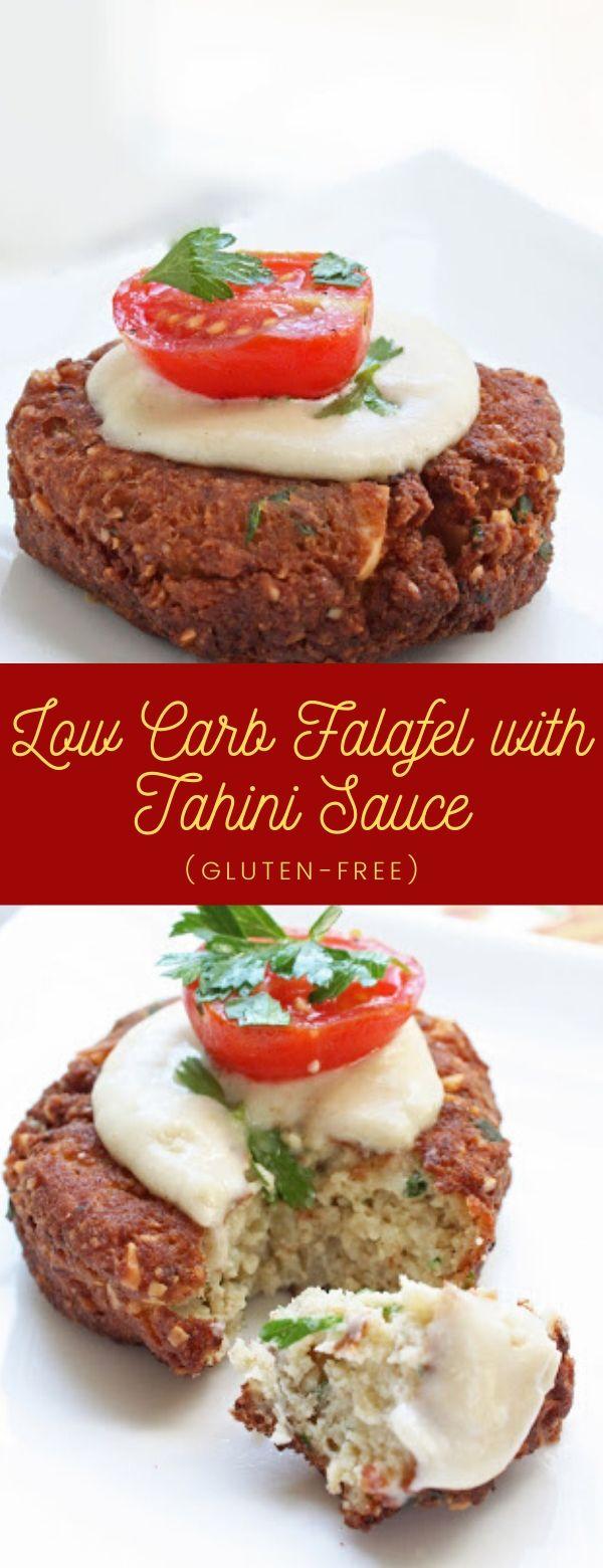Low Carb Falafel with Tahini Sauce