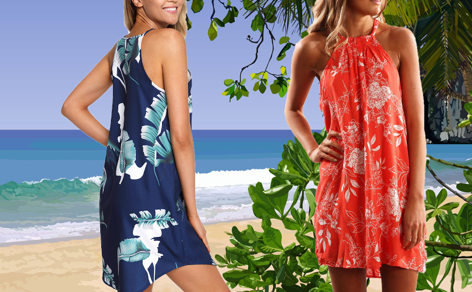 Summer Beach Halter Neck Dresses