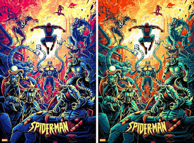 New York Comic Con 2021 Exclusive Spider-Man: The Animated Series Screen Print by Dan Mumford x Bottleneck Gallery
