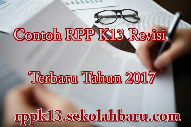 Contoh RPP K13 Revisi Tahun 2017