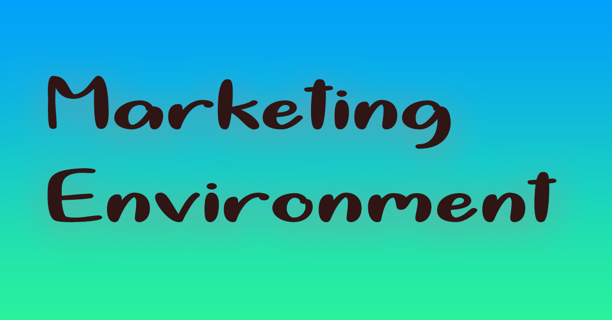 Marketing activities are influenced by several factors inside and outside a business firm. These factors or forces influencing marketing decision-making are collectively called marketing environment. It comprises all those forces which have an impact on market and marketing efforts of the enterprise. According to Phil