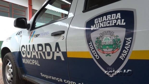 A Guarda Municipal de Toledo prende indivíduo com entorpecente Próximo ao ceu das artes