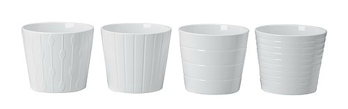 Free White Ikea Pots With Pot