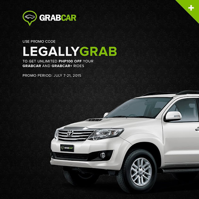 GrabCar Promo code for July 2015