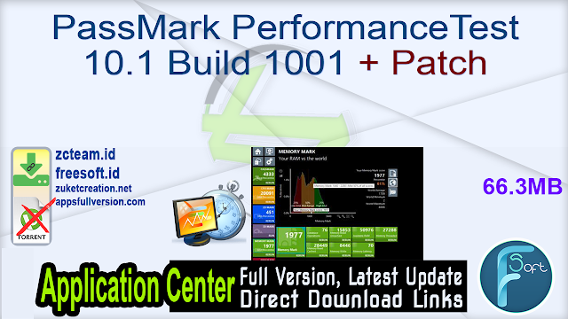PassMark PerformanceTest 10.1 Build 1001 + Patch_ ZcTeam.id