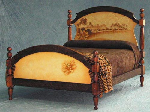 beautiful bed hawaiian furniture