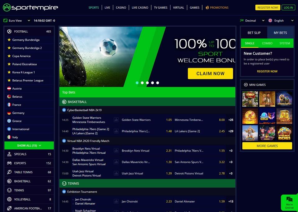 SportEmpire Screen