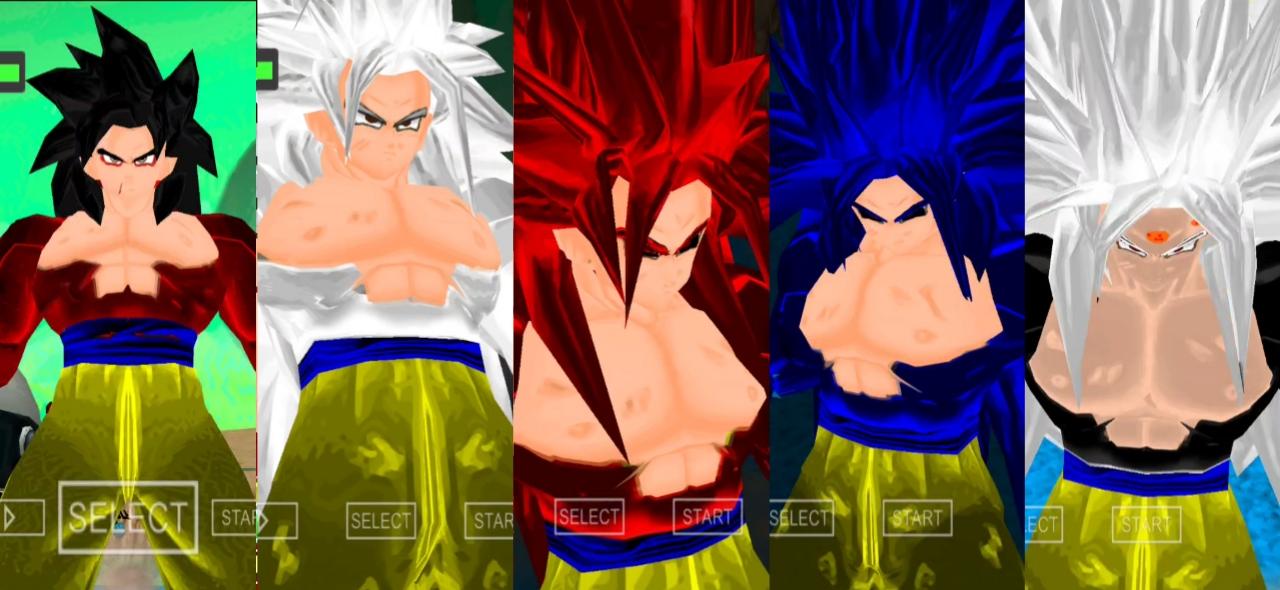 DBZ Raging Blast Goku SSJ5, SSJ6, SSJ7