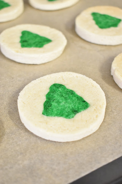 Christmas Tree Shapes Sugar Cookies